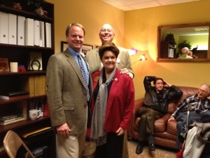Rep Barton with Mayor Nabours and Councilman Oravits in her office